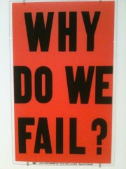Allen Ruppersberg why do we fail