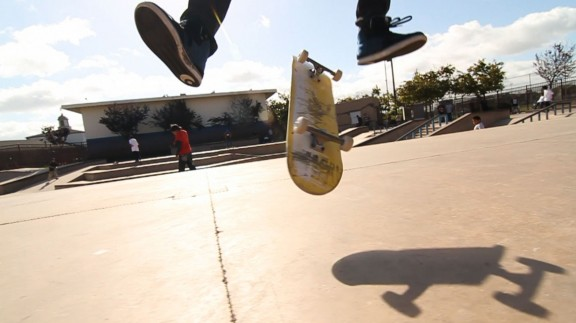 Chase Jarvis.  Just a sweet kickflip in action.