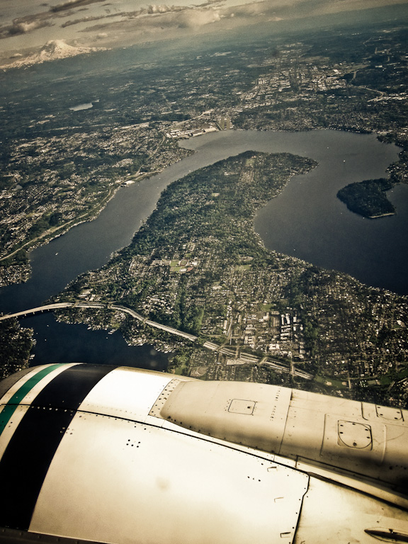 "Mercer Island, en route to San Diego for our ""12 Tasty Video + Photo Tips"" shoot"