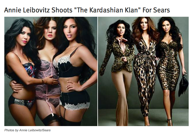 Annie Leibovitz Shoots Sears with Kardashians