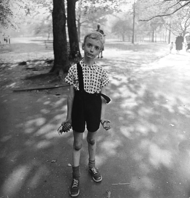 Child with Toy Hand Grenade in Central Park by Diane Arbus