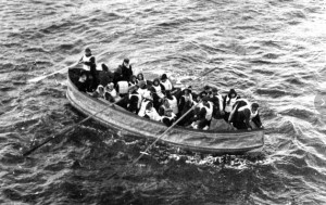 RMS Titanic's collapsible lifeboat D approaches rescue ship Carpathia