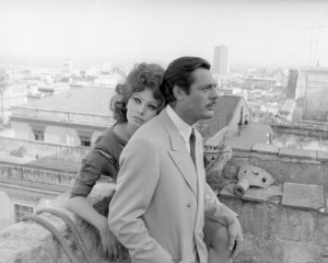 Sophia Loren and Marcello Mastroianni on the set of the film 'Marriage Italian Style'; Photo from the Michael Ochs Archives