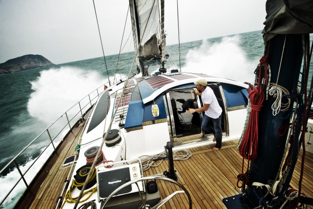 Onboard Pangea with Mike Horn, Strait of Taiwan