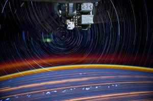 ISS030 star trail composite don pettit nasa