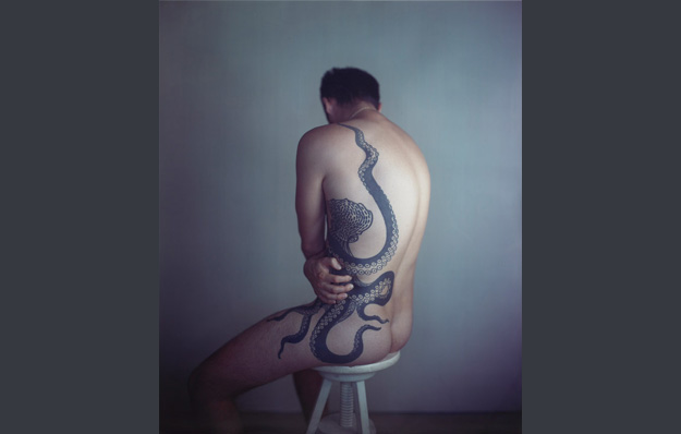 Richard Learoyd, 'Man with Octopus Tattoo II', 2011. Image Courtesy: The National Gallery, London, UK