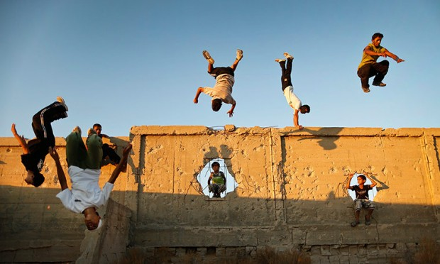 Parkour in Gaza by Ali Ali