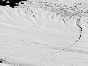 Calving in Antarctica. Photo courtesy of DigitalGlobe.