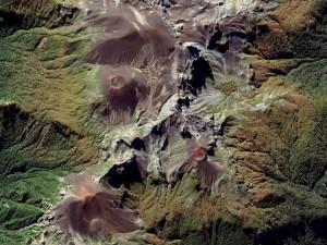 Volcanoes in Chile. Photo courtesy of DigitalGlobe.