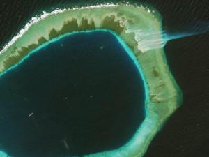 The Subi Reef in China. Photo courtesy of DigitalGlobe.