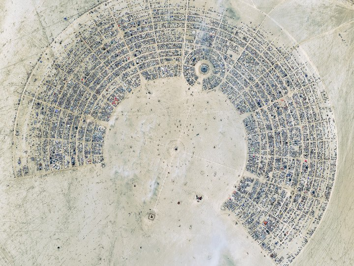 Burning Man 2012. Photo courtesy of DigitalGlobe.