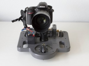 L'il Mule with ball head, camera, and battery mounted