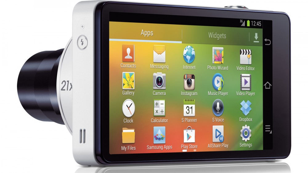 The Samsung Galaxy Camera includes Wi-Fi, 3G and GPS and can run Android apps