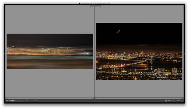 D800 shot on the left, 5D Mark III on the right. Fog-shrouded Bay Area, treated in Color Efex Pro 4. © Sohail Mamdani
