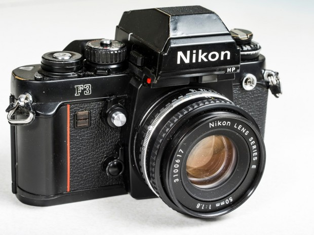 Nikon F3 with HP viewfinder. Image courtesy Wikipedia.