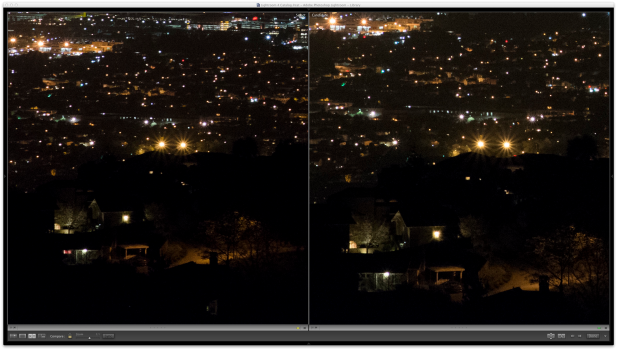 ISO 3200 comparison, with D7000 on the left and D7100 on the right
