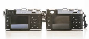 X100 on the left, X100s on the right.