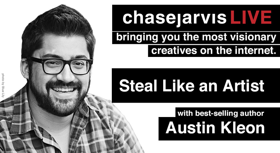 20130918 cjLIVE Austin Kleon UStream Graphic