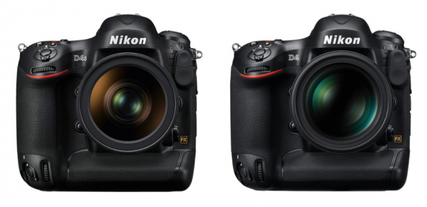 Nikon D4s and Nikon D4 comparison - front view