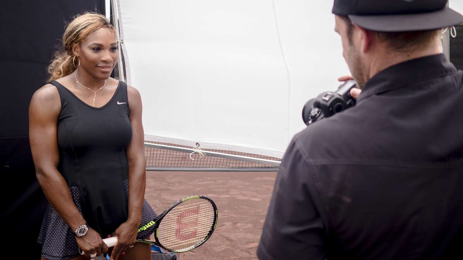 serena williams on photo shoot with chase jarvis