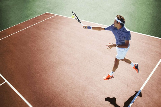 Pro Tennis Player Roger Federer in Action, photo by Chase Jarvis
