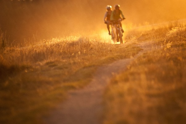 Sunset Mountain Bike Riders