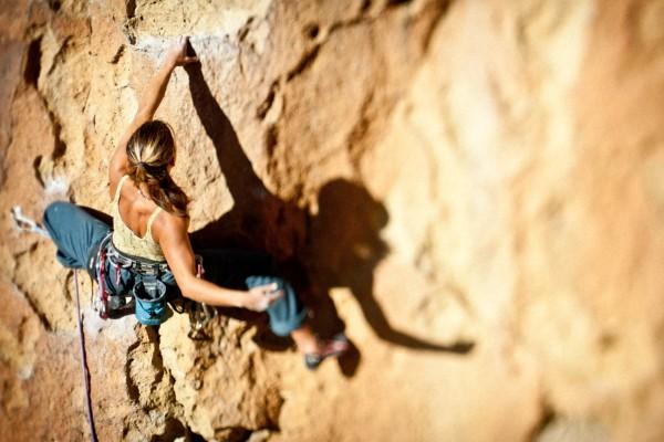 Smith Rocks Climber