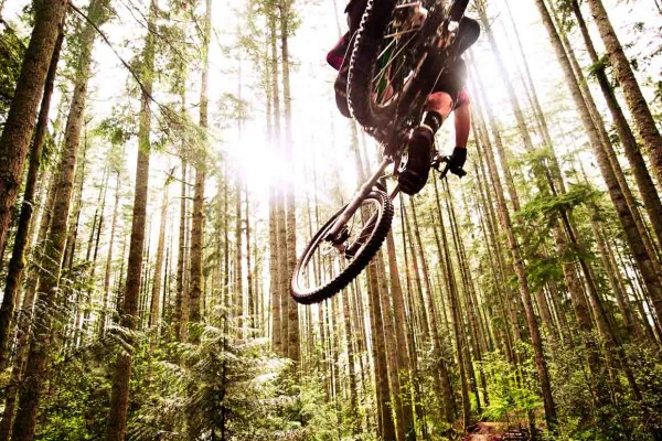 Mountain Biker Aerial