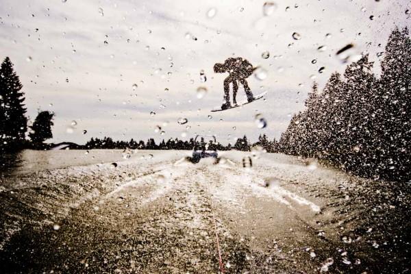 Wet Snowboard Jump