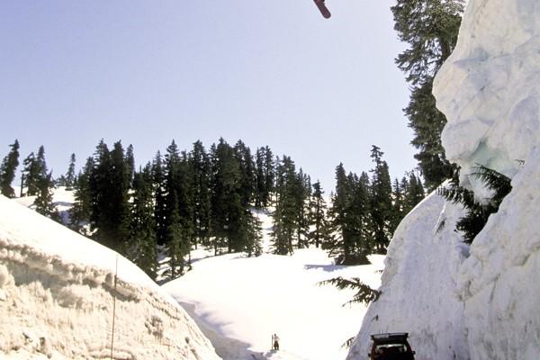 Snowboarder Gap Jump