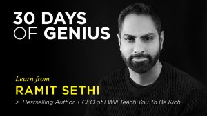 Ramit Sethi 30 Days of Genius Interview