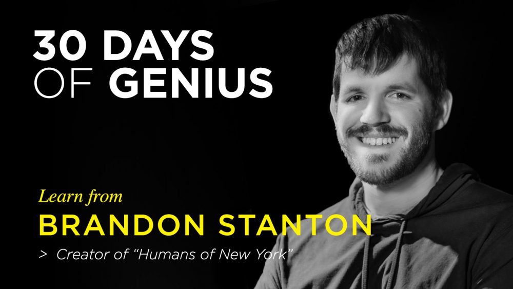 Brandon Stanton on 30 Days of Genius Interview