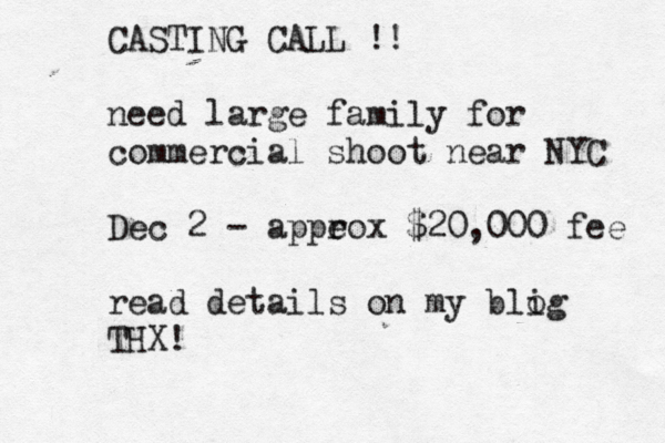 chase jarvis nyc casting