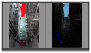 The X100s holds details in the highlights pretty well. Image on the right has a global exposure adjustment of -4 in Lightroom.