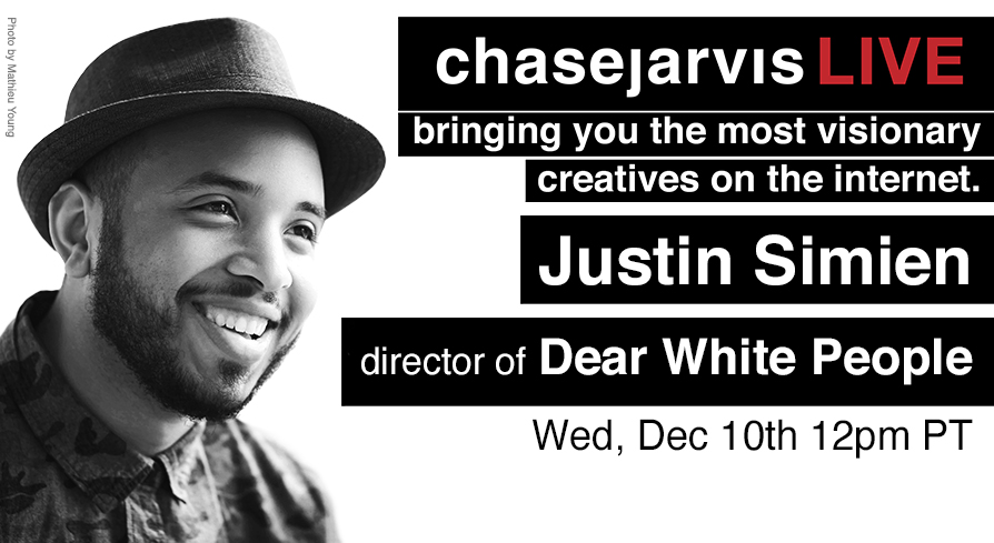 justin simien dear white people chase jarvis live