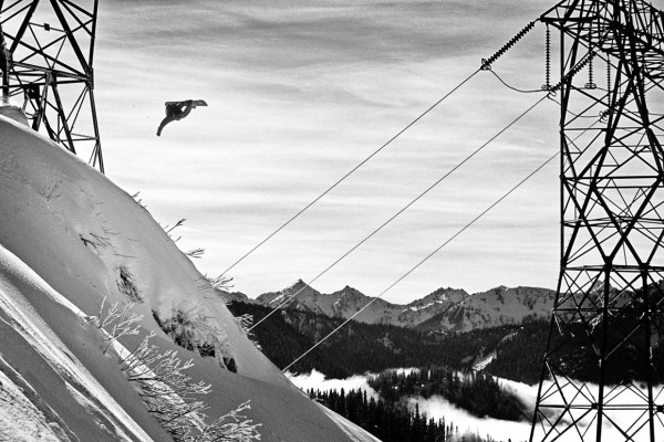 Snowboard Powerlines Drop