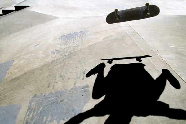 Skateboard Kick Flip Shadow