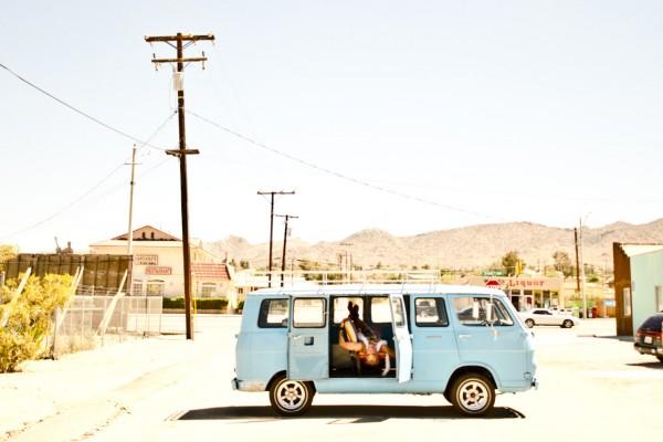 Blue Van Desert