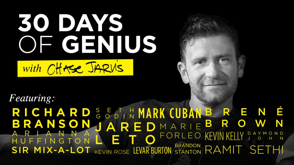 30 days of genius on creativelive and chasejarvis live
